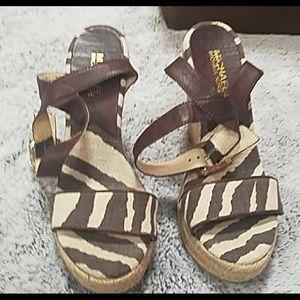 Michael Kors giraffe espadrille sandals 7.5